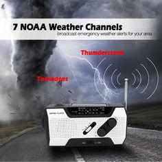 It receives AM/FM/ 7 NOAA Weather channel to get up to date information when Tornado, flood, storm is around the corner, keep you informed and entertained
