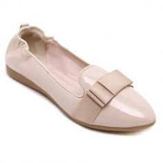 Simple Ruffle and Bowknot Design Women's Flat Shoes