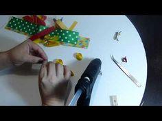 moños con apliques miniatura en cinta pollito para el cabello. ribbon click hair clip tutorial - YouTube