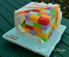 This is a tutorial on how I made this Lego Cake. This is my second Lego Cake…