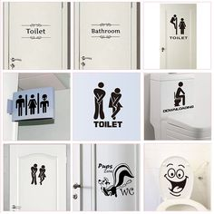 Buy WC Toilet Entrance Sign Door Stickers For Public Place Home Decoration Creative Pattern Wall Decals Diy Funny Vinyl Mural Art Cheap Wall Stickers, Door Stickers, Wall Decals, Bathroom Stickers, Mirror Stickers, Wall Art, Pattern Wall, Wall Patterns, Home Decor Signs