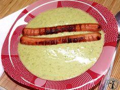 Ízes-krémes brokkolifőzelék | Egy egészségesebb élet Sausage, Meat, Food, Sausages, Essen, Yemek, Meals