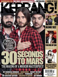 Thirty Seconds to Mars Thirty Seconds, 30 Seconds, Children Of Bodom, Escape The Fate, Valentine's Day Poster, Blink 182, Jared Leto, My Chemical Romance, Sexy Ass