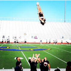 Gotta love a great basket toss!  Check out CheerleadingInfoCenter.com for tons of stunting tips.