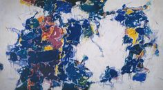 Sam Francis  Around the Blues  Oil and Acrylic paint on canvas  2751 x 4871 mm  1957