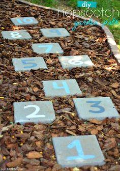 DIY hopscotch garden path
