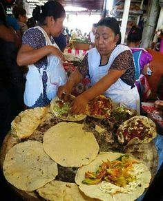 Tlayudas oaxaqueñas. supposedly the best street food ever. To enjoy traditional dishes why not take a MEXICAN FOOD TOUR. Get the facts at http://www.allaboutcuisines.com/food-tours/mexico/in/mexico#Food Tours Mexico #Mexican Food