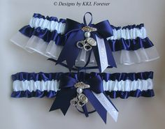 Cute wedding garter idea; Police officer themed