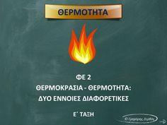 Θερμοκρασία - Θερμότητα Δύο διαφορετικές έννοιες