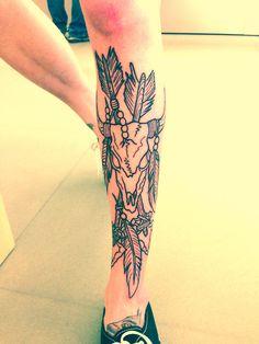 Skull tattoo on leg http://tattoo-ideas.us/skull-tattoo-on-leg/ http://tattoo-ideas.us/wp-content/uploads/2013/06/Skull-tattoo-on-leg.jpg