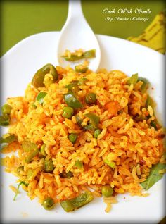 capsicum bath CAPSICUM BATH RECIPE / CAPSICUM RICE RECIPE - EASY LUNCHBOX RECIPES !! | Cook With Smile #masalabath #Karnatakarecipes #karnatakafood #vangibath