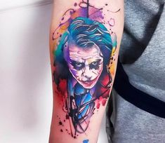 Joker tattoo by Marco Pepe