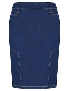 Spódnica damska Karolina, jesienna kreacja z dżinsu.
