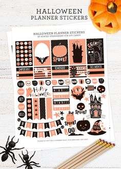 Free Halloween Stickers for Your Planner - diycandy.com