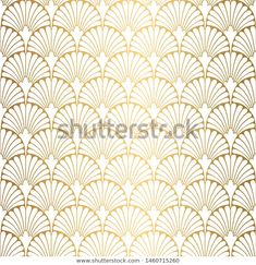 Find Art Deco Pattern Seamless White Gold stock images in HD and millions of other royalty-free stock photos, illustrations and vectors in the Shutterstock collection. Thousands of new, high-quality pictures added every day. Arte Art Deco, Motif Art Deco, Art Deco Pattern, Art Deco Design, Tile Wallpaper, Textured Wallpaper, Illustrations, Illustration Art, Stencil Art