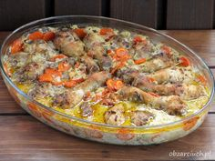 Podudzia pieczone w marchewce Paella, Potato Salad, Potatoes, Meat, Chicken, Ethnic Recipes, Kitchen, Food, Thermomix