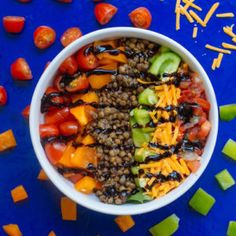 Rainbow Lentil Bowl  Download other Free Summer recipes here:  http://www.ryanclarkfitness.com/free-healthy-summer-recipes