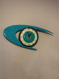 Colour Etched Lucite Formica Wall Clock from Royale   Etsy