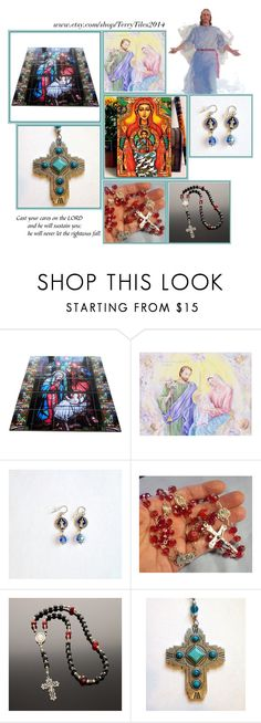 """Religious Art on Etsy by TerryTiles2014 - Volume 48"" by terrytiles2014 on Polyvore featuring interior, interiors, interior design, Casa, home decor e interior decorating"