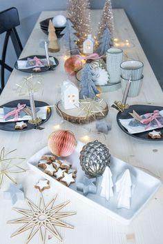 Tischdekoration zu Nikolaus in Grau und Rosa im Skandi-Look. Das klassische Fest im modernen Look. So holt ihr euch den Style in die eigenen vier Wände.