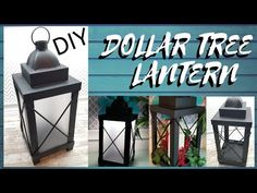 Today's DIY project is lantern home decor project. Tree Lanterns, Lanterns Decor, Decorative Lanterns, Patio Lanterns, Gas Lanterns, Lantern Centerpieces, Dollar Tree Decor, Dollar Tree Crafts, Dollar Tree Christmas