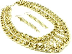 Double Chain Necklace Set  www.rebesonalaccessories.com