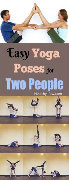 7 Easy Yoga Poses For Two People. Try these yoga exercises for 2 people with y. - 7 Easy Yoga Poses For Two People. Try these yoga exercises for 2 people with your partner, couple - Couples Yoga Poses, Yoga Poses For Two, Easy Yoga Poses, Yoga Easy, Basic Yoga, Yoga Poses With Partner, Challenging Yoga Poses, Couples Exercise, Two Person Yoga Poses