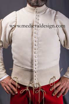 Detail of the faulds: 1450-1475 doublet by www.medievaldesign.com