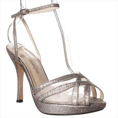 Caparros Lynne Dress Sandals in Silver Glitter, from Sears—$24