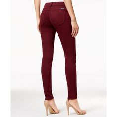 Miss Me Burgundy Wash Skinny Jeans (£48) ❤ liked on Polyvore featuring jeans, burgundy red, white skinny leg jeans, red skinny jeans, miss me jeans, white jeans and skinny leg jeans