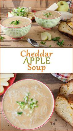 Easy Cheesy Cheddar Apple Soup