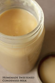homemade sweetened condensed milk without dry milk