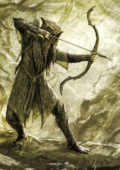 Mirkwood Elf - The Hobbit, part II - Concept design as seen in The Hobbit: The Desolation of Smaug, Chronicles: Art & Design and Smaug: Unleashing the Dragon - The Art of Nick Keller