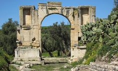 Arch of Alexander Severus, Dougga Tunisia. The Gabinii were a very wealthy family of Thugga. They often held the office of Imperial flamen (priest) and they promoted the construction of several monuments. During the reign of Emperor Alexander Severus they built a large shrine dedicated to Juno Caelestis to the west of the town which required the construction of a road.