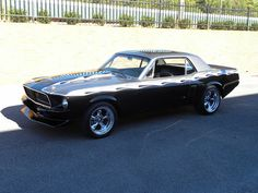 67 Black Mustang Coupe
