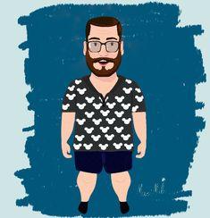 #Fatboy #Character #beard  By: Mari Mels