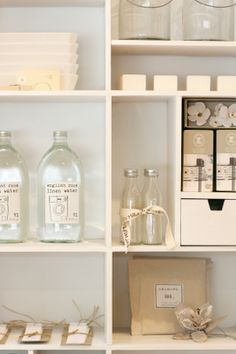 loans + linen store // this is what I want my laundry room to look like