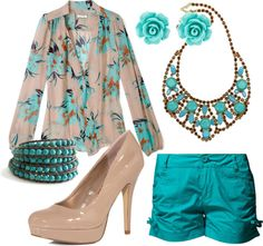 Turquoise, created by molly-hoffman on Polyvore