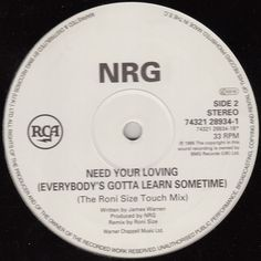 NRG - Need Your Loving (The Roni Size Touch Mix 1995)