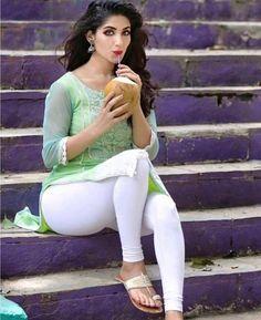 Beautiful Girl Indian, Beautiful Indian Actress, Beautiful Saree, Beautiful Women, Girls In Leggings, Tight Leggings, Slender Girl, Indian Girls Images, Indian Actress Hot Pics