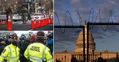 All 50 US state capitals are beefing up security with 25,000 National Guard troops deployed to Washington DC ahead of Biden's swearing in on Wednesday. Donald Trump Face, Mr Trump, National Mall, National Guard, Paris Climate, Trump Protest, Us Capitol, Us Election, New President