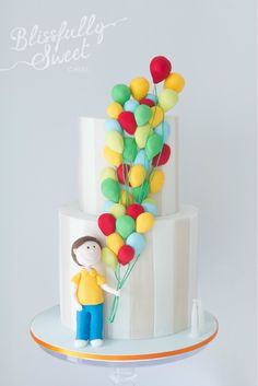 Balloons cake by Blissfully Sweet Cakes