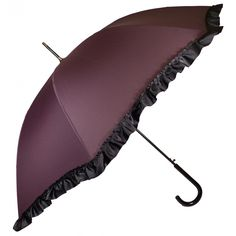 Regence purple ruffled umbrella