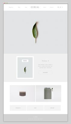 Web page of Cereal magazine. Just as beautiful as the magazine itself.