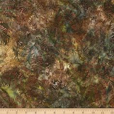 Designed by Lunn Studios for Robert Kaufman Fabrics, this Indonesian batik fabric has beautiful colorations and is perfect for quilts, craft projects, home decor accents and apparel. Colors include shades of brown, shades of green and shades of gold.