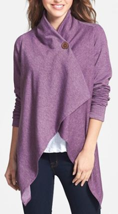asymmetrical fleece cardigan on sale, so many colors! http://rstyle.me/n/t95xzr9te
