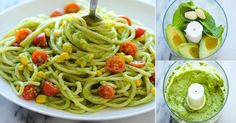 Pasta y aguacate Avocado Recipes, Veggie Recipes, Pasta Recipes, Mexican Food Recipes, Vegetarian Recipes, Healthy Recipes, Kitchen Recipes, Cooking Recipes, Comida Diy