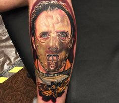 Known for his incredible realistic portraits of some of our most beloved pop culture icons, Empire Ink tattoo studio owner and Tattoodo Ambassador Alex Rattray Hannibal Lecter, Learn To Tattoo, Horror Movie Tattoos, Scary Films, Becoming A Tattoo Artist, Traditional Tattoo Art, Harry Potter, London Tattoo, Best Horror Movies