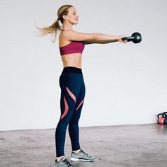 Kettlebell Moves To Burn More Cals | Swing: Works abs, glutes, hamstrings
