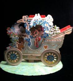 HUGE Antique Valentine POP UP Auto Cherub by smartysfunstuff, $155.00
